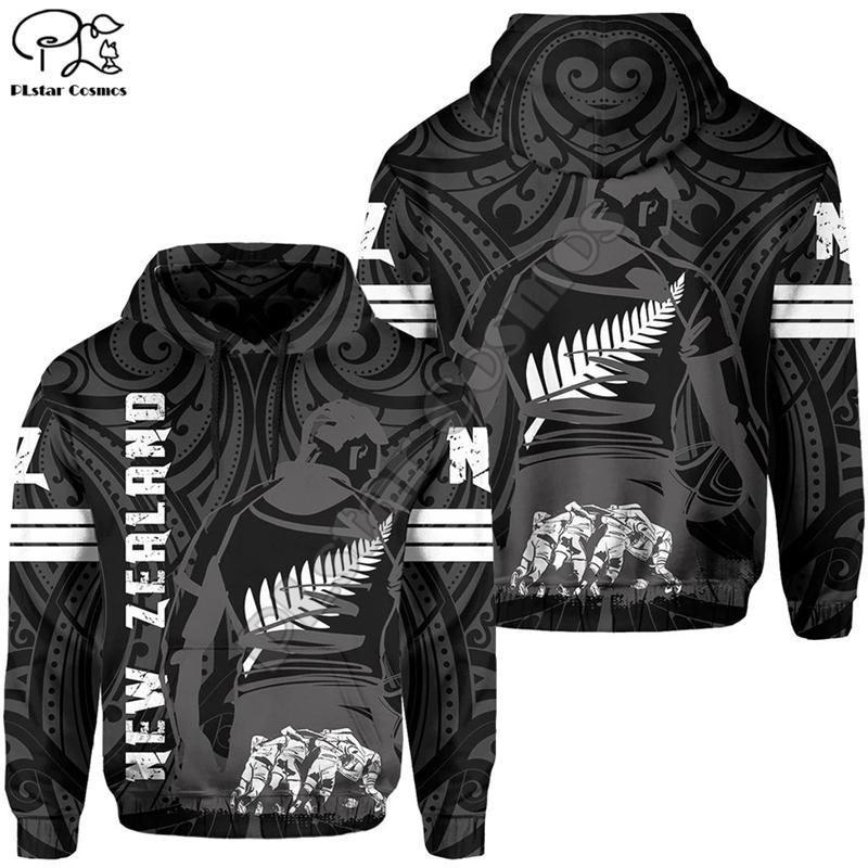 Plstar Cosmos Yeni Zelanda Ülke Maori Aotearoa Kabile Dövme Sembol 3Dprint Erkekler / Kadınlar Newfashion Harajuku Hoodies Kazak B-7 201021