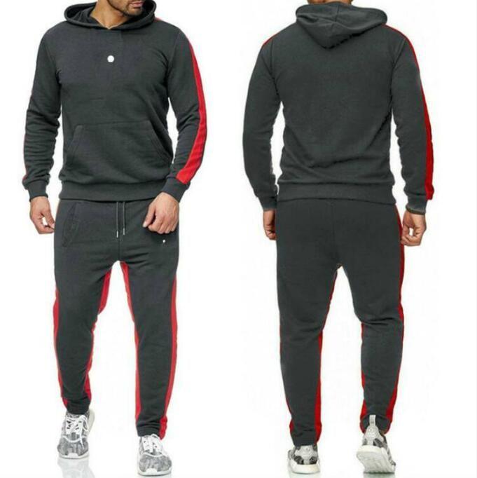 Diseñador Off Men's Tracksuits Blanco Gris Sportswear Conjuntos de trajes de jogging Sudaderas con capucha Hombres Sudaderas Solos Traje para hombre Pantalones de marca Ropa 8 Estilo