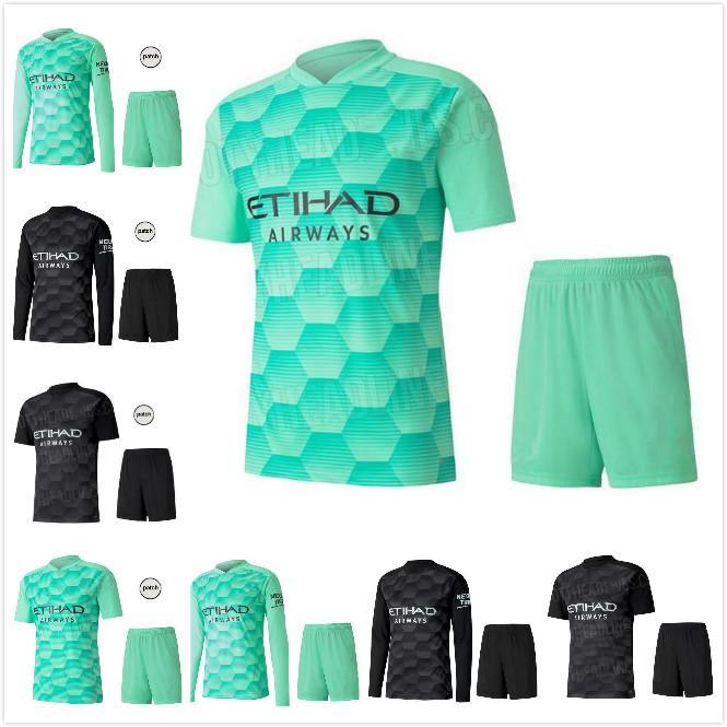 Gardien de but Full 2020 Man Kun Aguero City 20 21 Jerseys de football Silva Maillot Ederson M. Chemise de football Grimshaw Hommes Kits Camiseta