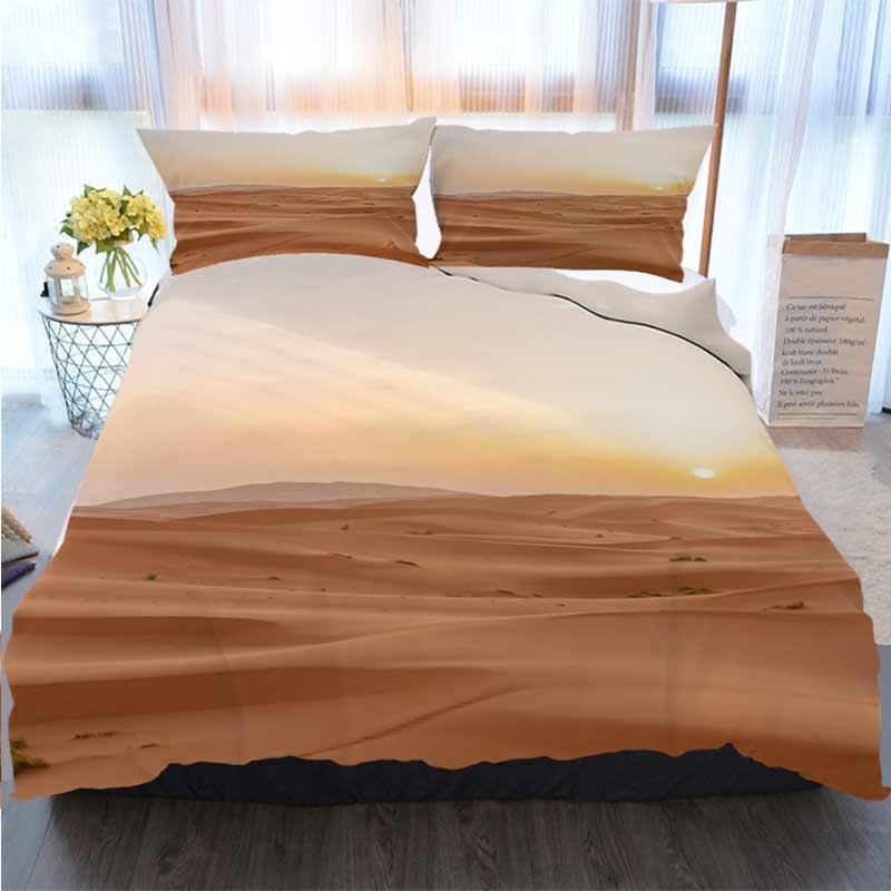 Literie 3D Designer Ensembles Sunrise In Sahara Quilt Literie Consolateur Literie