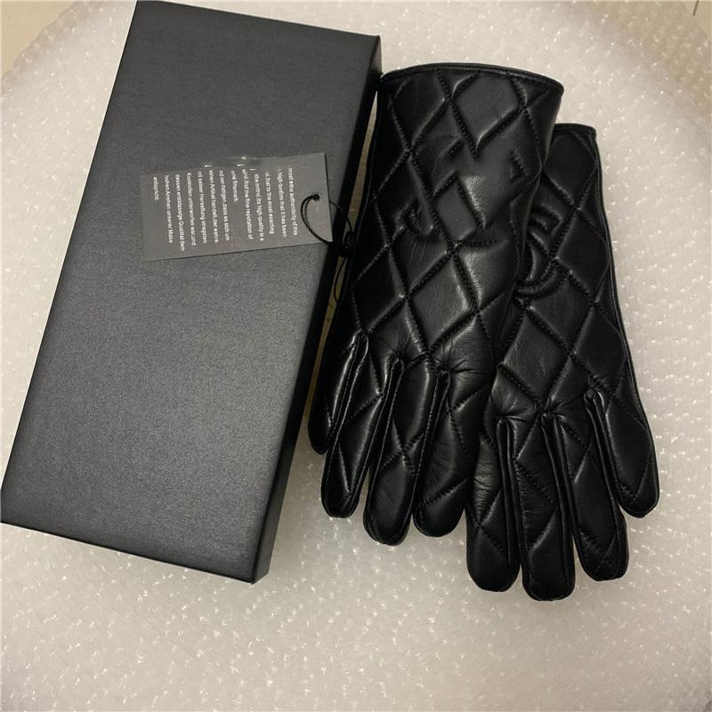 Gants en cuir d'hiver de haute qualité et écran tactile en laine de la laine fourrure de lapin à fourrure à froid résistant à froid
