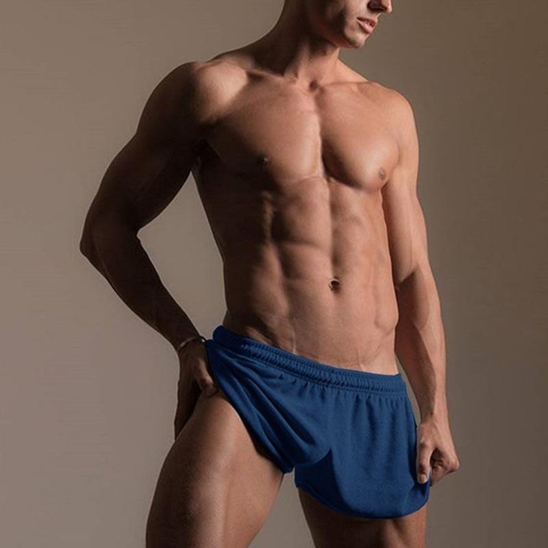 Pantalones cortos de verano para hombres deportes de jogging fitness gimnasia pantalones pantalones para hombre color sólido liviano de la ropa de hogar cintura elástica