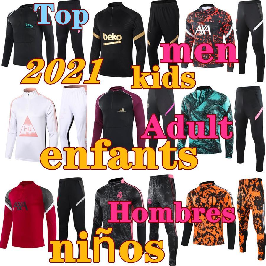 Novo 2022 Sobrevêtement 2021 Hommes Enfants Vrais Madrições Futebol Sobrevêtement Kits Vêtements de Sport Vêtements Personnalisé Homme Ensemble