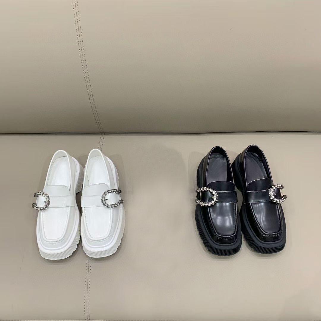Scarpe da designer di alta qualità! Moda retrò doppia testa in pelle scarpe scarpe di lusso banchetto da sposa scarpe da donna scarpe da donna singola scatola da scarpe 35-40