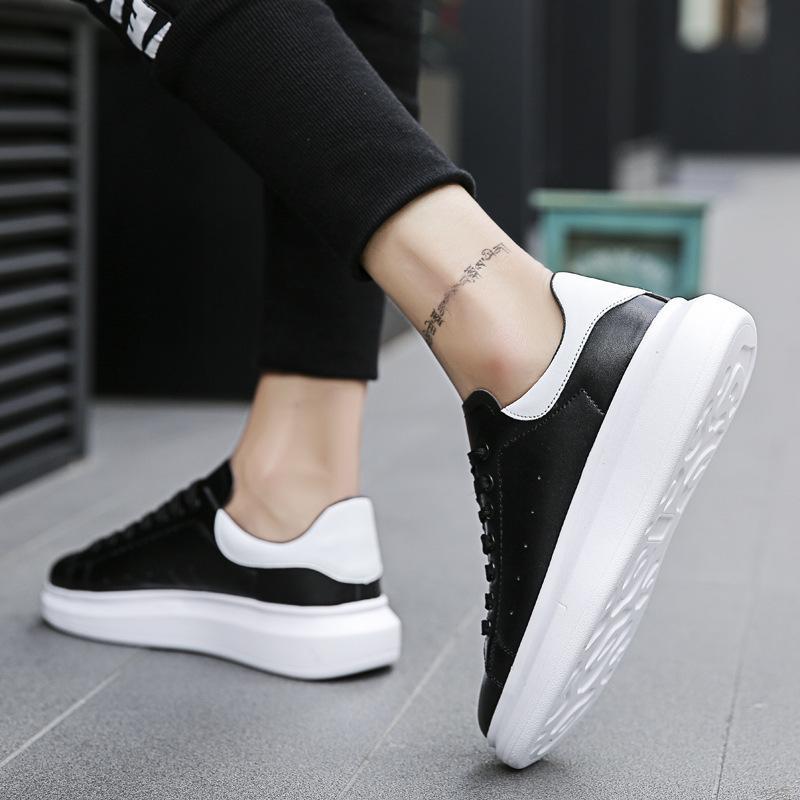 Yeni Erkekler Günlük Ayakkabılar Tasarımcı Sneakers Deri Erkek Ayakkabı Moda Rahat, hafif Ayakkabı Ayakkabı Zapatillas C1-10A 201009
