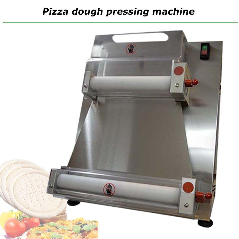 Top Verkauf von Edelstahl Pizzateig Walzenmaschine elektrische 15-Zoll-Pizzatough-Sayer 220V 110V 370W