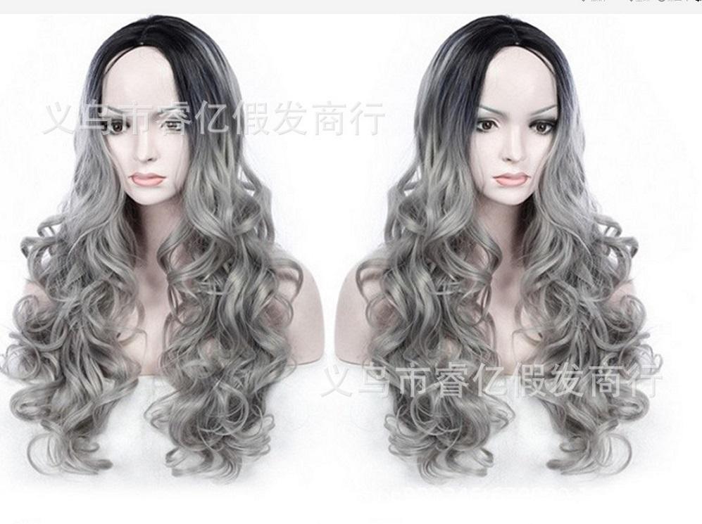 2021 Las nuevas pelucas más vendidas en Europa y los Estados Unidos se dividen en el pelo gris, negro, largo y rizado y pelucas diarias.