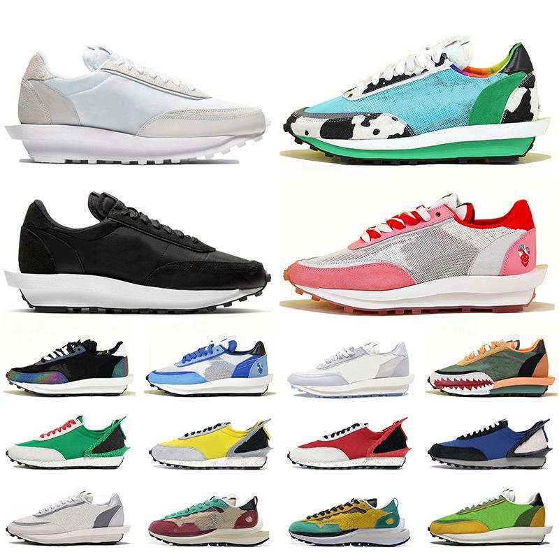 Sacai LDV Waffle Daybreak Mulheres homens designer de sapatos casuais verde gusto pinho verde lobo cinza mens formadores tênis esportivos 36-45