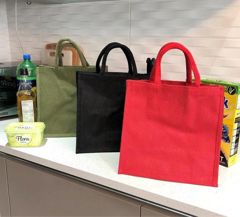 Tote linho compras verde mantimento estereoscópico preto qualidade vermelho bom saco de linho reutilizável pqbju