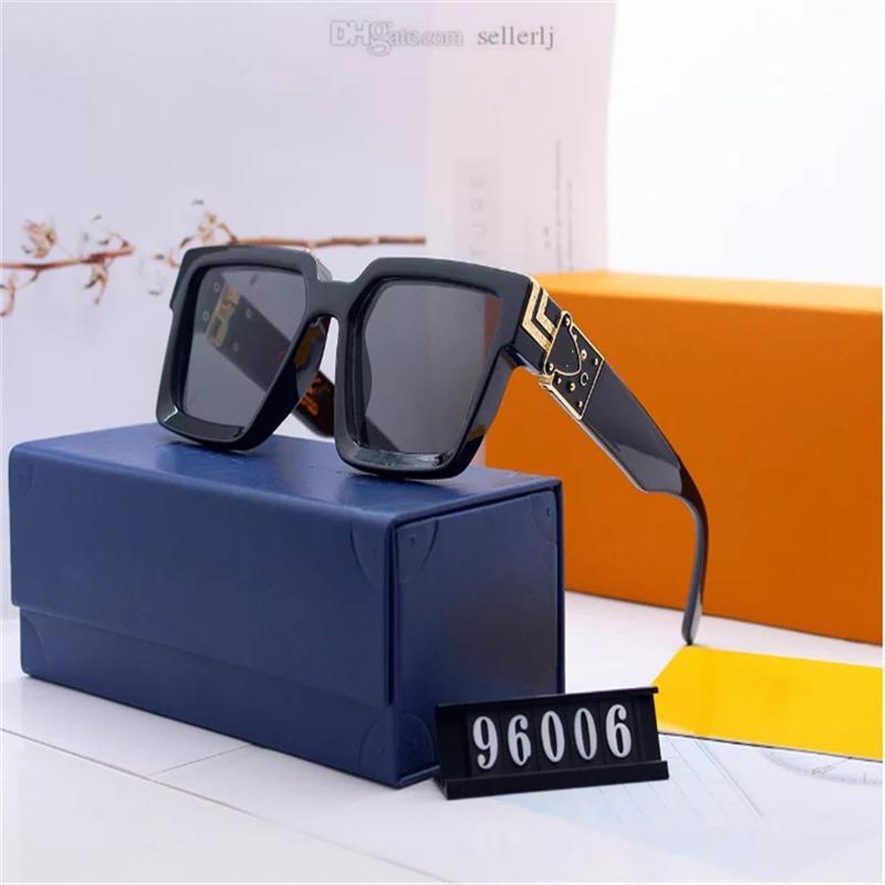 Erkekler Kadınlar Tasarım Güneş Gözlükleri Milyoner Kare Çerçeve En Kaliteli Açık Avant-Garde Sıcak Satış Toptan Stil Gözlük 96006