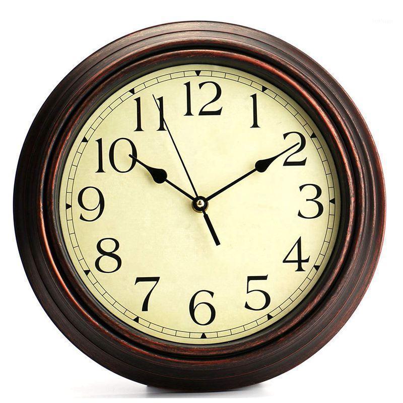 12 pouces ronde classic classic horloge de quartz de quartz non ticking