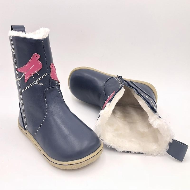 Tipsietoes Top Brand Barefoot Натуральная Кожа Младенца Малыш Девушка Девочка Обувь для Мода Зимние Снежные Сапоги Бесплатная Доставка LJ200911