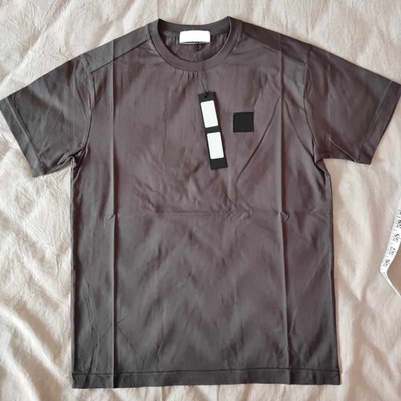유럽 스타일 단색 짧은 소매 패션 높은 품질 편안한 캐주얼 티 남성과 여성 커플 8 색 T 셔츠 HFSSTX078