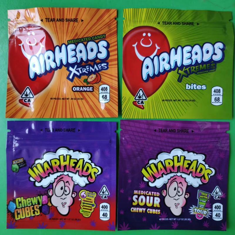 Gas Runtz Gummies Bag Nerds Cuerda Bites Golfs Gummies A prueba de niños Ecome Cremallera Paquete Packaging Pouch Almacenamiento Venta al por menor Emptojklj