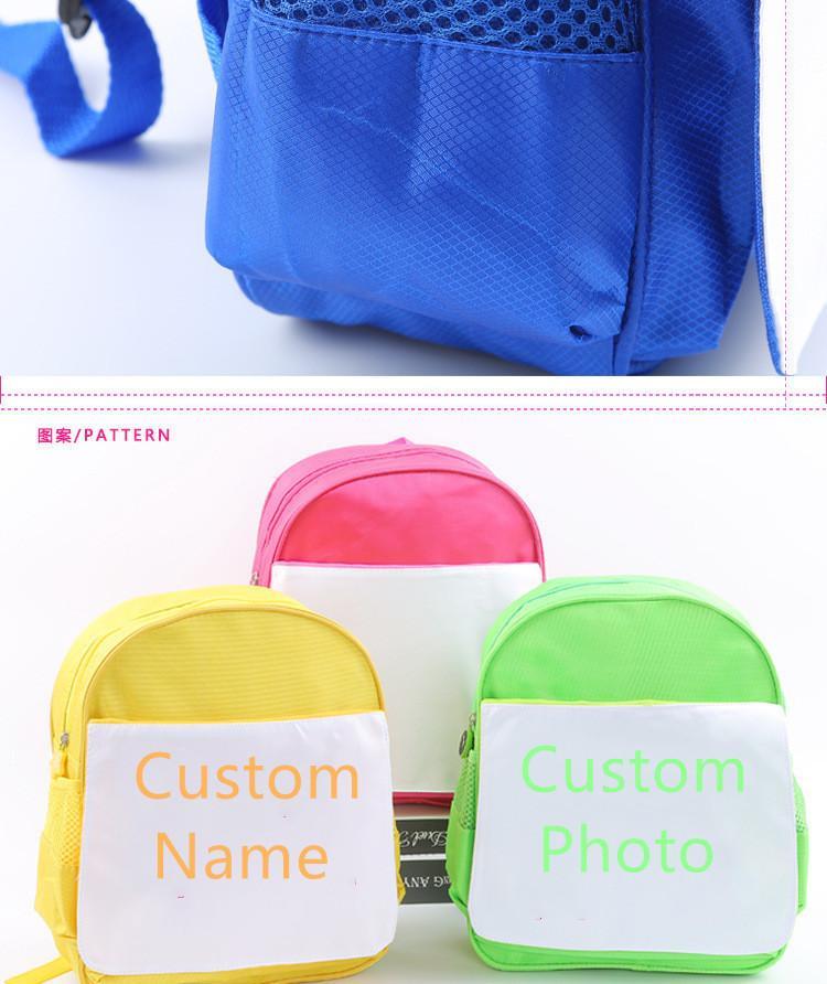 2021 lateststyle 4pcs / baskı mürekkepleri için çok Yeni Ücretsiz Sublime Blank Nakliye Çocuk sırt çantası öğesi yazdır DIY Gifts34 * 28 * 10 Yeni