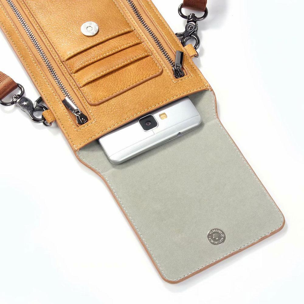 Универсальный плеча женщины сумка для размера мобильного телефона, что в 6,3 дюйма карты Карманного Дело сотового телефона мешки Walle пакет мешок