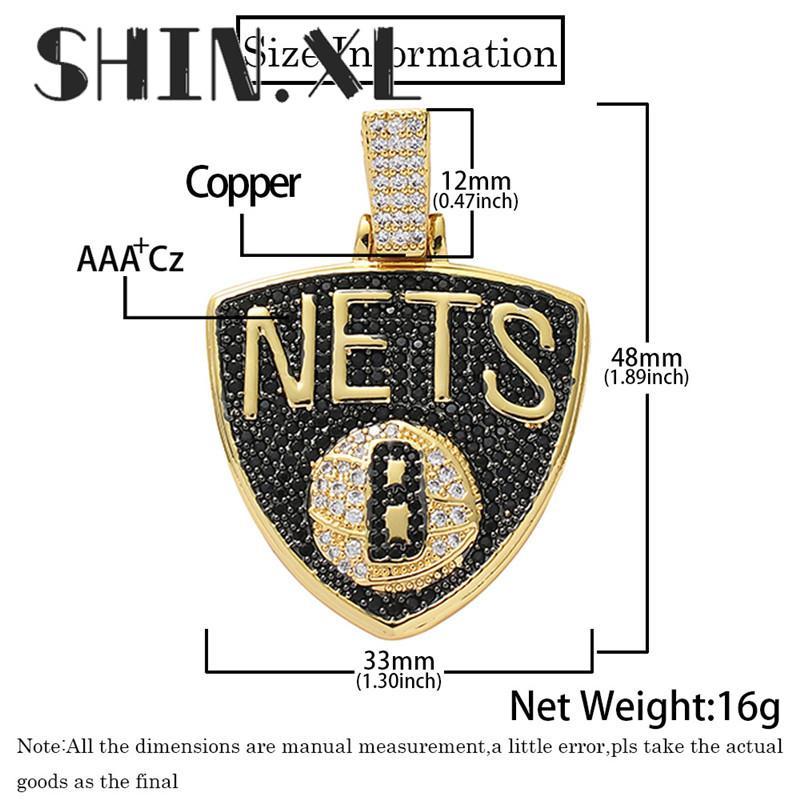 Iced Out Bouclier collier pendentif avec chaîne cubique Zircon Collier Hip Hop Bijoux Mode Hommes Femmes Coffret Cadeau