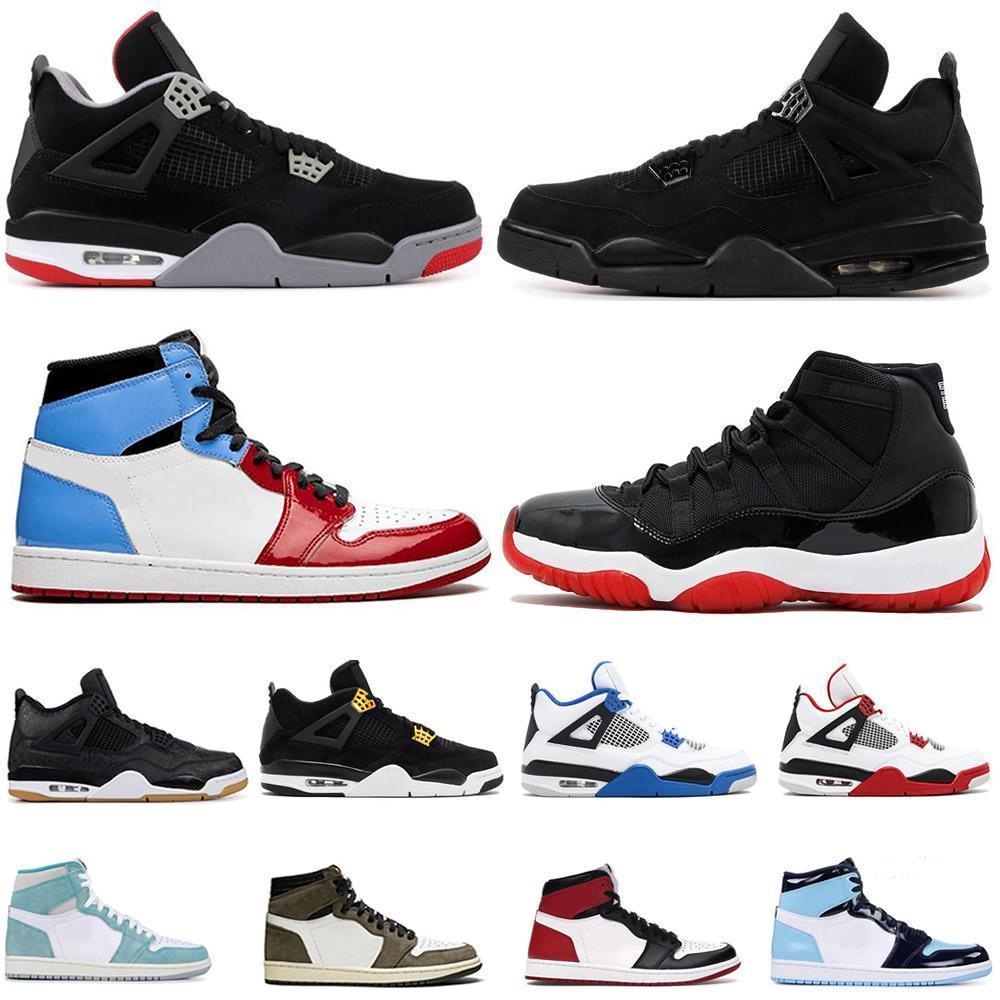 Üst Siyah Kedi 4s IV Beyaz Çimento Korkusuz Gri Erkek Basketbol Ayakkabı UNC 11 11'ler Concord Erkekler Kadınlar Spor Spor ayakkabılar Bred neler Obsidyen 1s