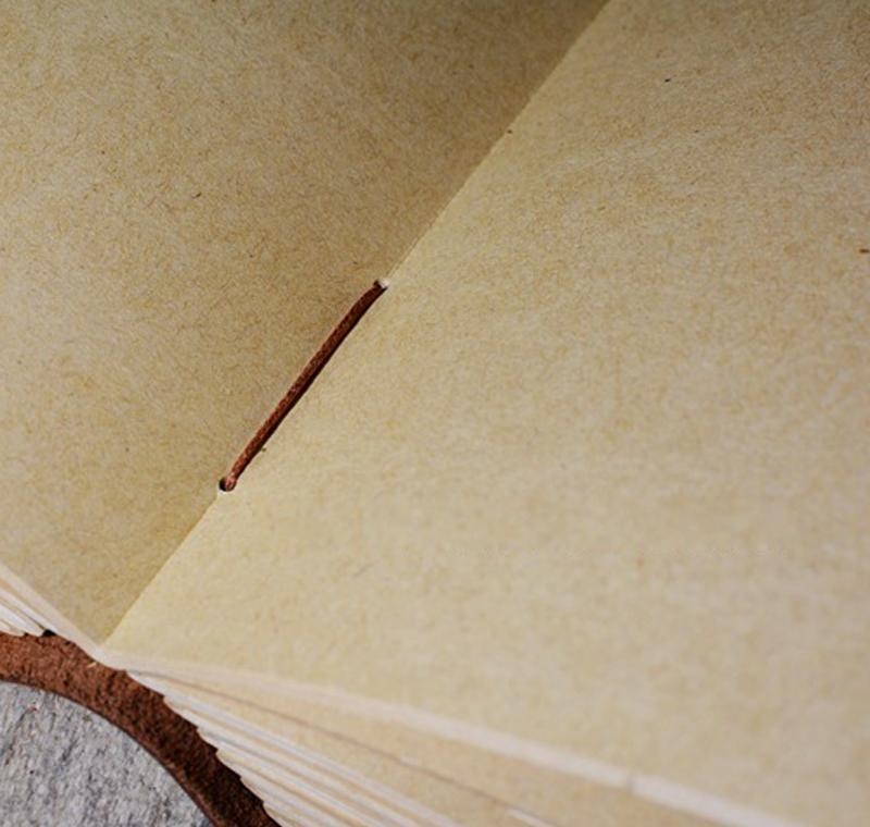 Retro El Yapımı Deri Günlüğü Dizüstü Sketchbook Seyahat Dergisi Vintage Boş Yazma Kağıdı Hediyeler SQCOBA HOMES2007