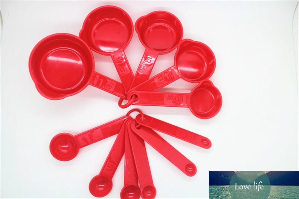 11pcs / set MEDICIÓN CALCURAS Coloridas Cuchara de plástico Medir Mida para hornear de pastel de azúcar útil