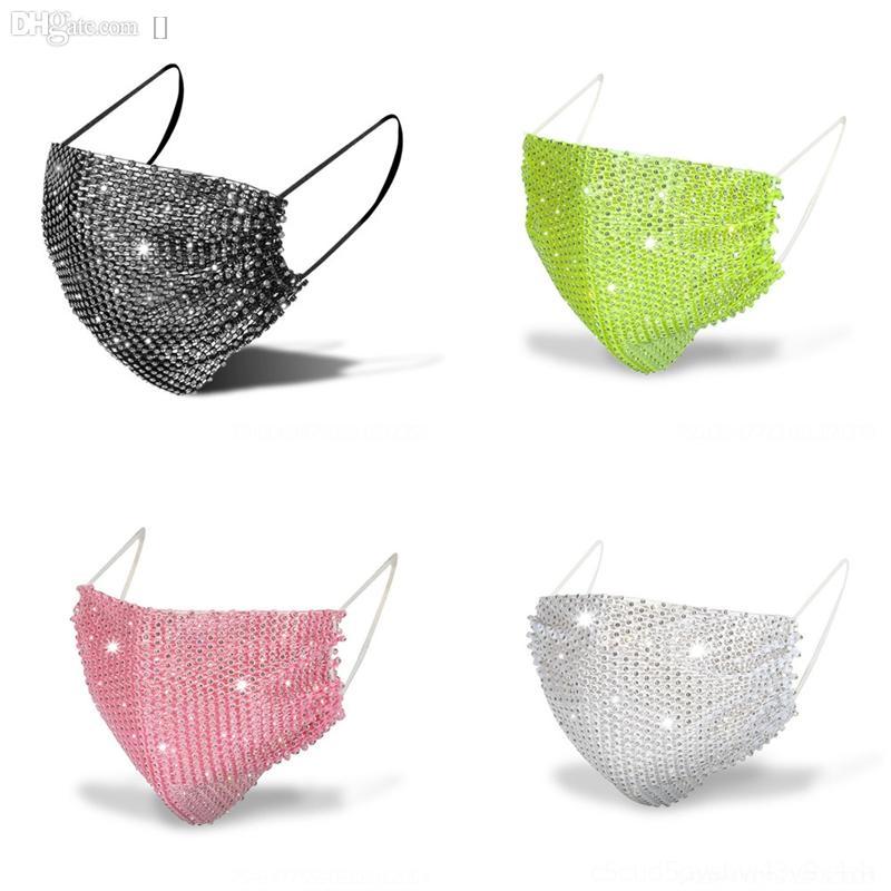 EHQK staubdicht .mouth Masken schützende Reuushb Bling Diamant Mode staubdicht waschbar. Fashion bling ma