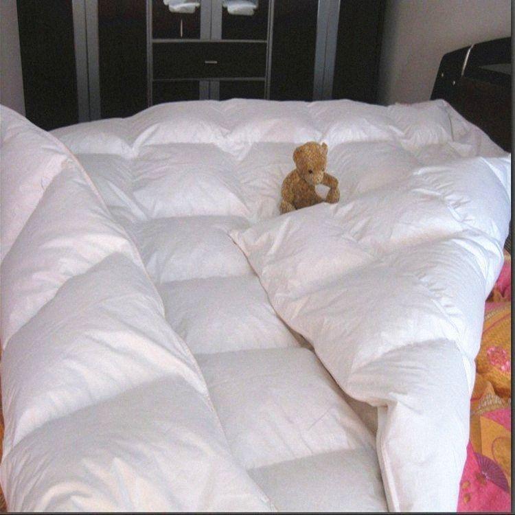 Weiße Feder Daunenbett tog Wert 7,5 für Frühling und Herbst 250 gsm UK doppelte Größe 6.5 * 6.5' Fabrikpreis auf Verkauf 5D4s #