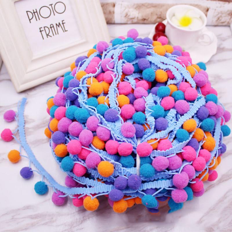 10 ярдов Лот маленький мяч кружева ленты кисточки хлопчатобумажные кисточки обрезки краски DIY для шитья кровати для прокладки одежды для одежды украшения шторы H Bbykii