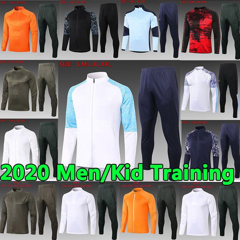 20 21 MANCHESTER FORMULTURE HOMMES ENFANTS Pogba Lukaku Rashford Veste de football Veste de sport Sportswear pied Jogging 20 21 Soccer uniforme