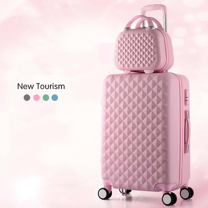 Cartoon Praid Fashion Mignonne Femme 20/22/24/26/28 pouces Rouler des bagages Spinner Spinner Suitcase Roues Continuez sur les sacs de voyage LJ200928
