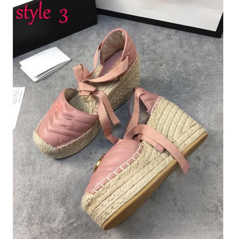 Fashion Womens Fisherman Shoes Baotou Sandálias Plataforma Luz Peso Sapatos Mulheres Teave Tecer Cruz Laços Laces Fisherman Sapatos com Caixa