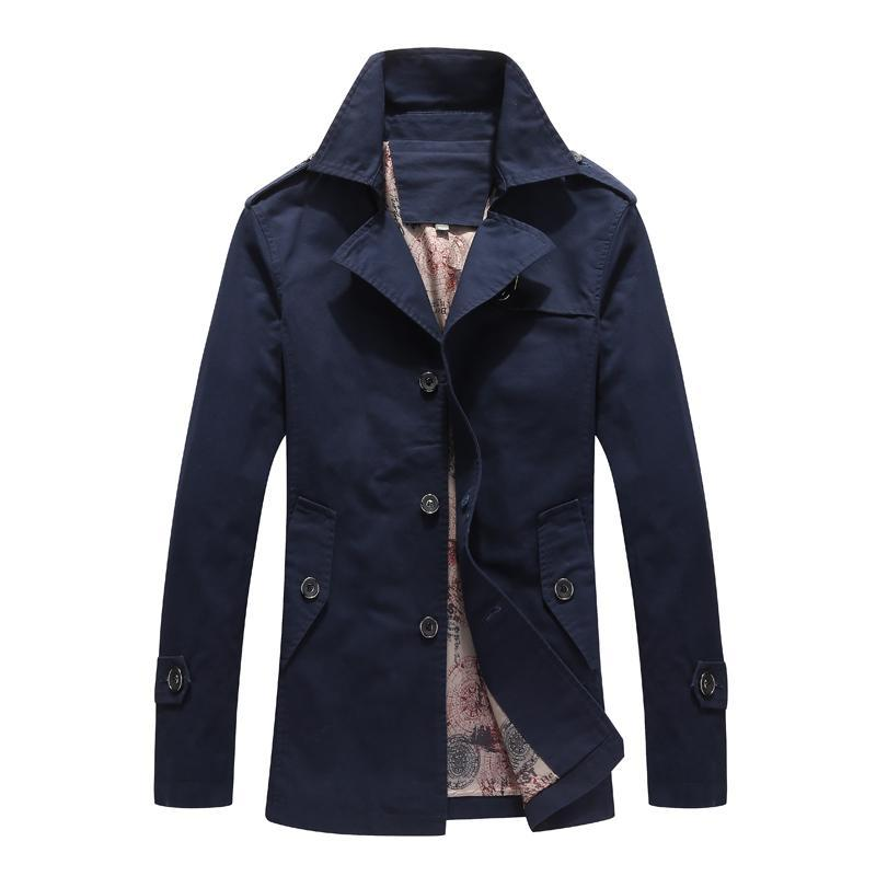 Plus Size 8XL Men Jacket Coat Fashion Trench Coat New Spring Brand Casual Fit Overcoat Jacket Male Winter Windproof Outwears