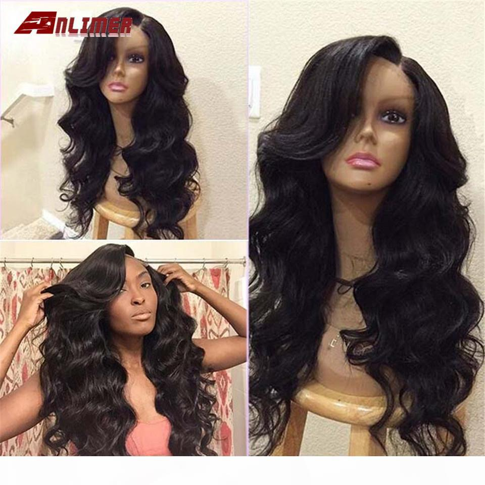 Anlimer Brazilian Body Wave Wigs For Women 13 *6 Lace Front Human Hair Wigs Natural Color Glueless Remy Hair 150% Density
