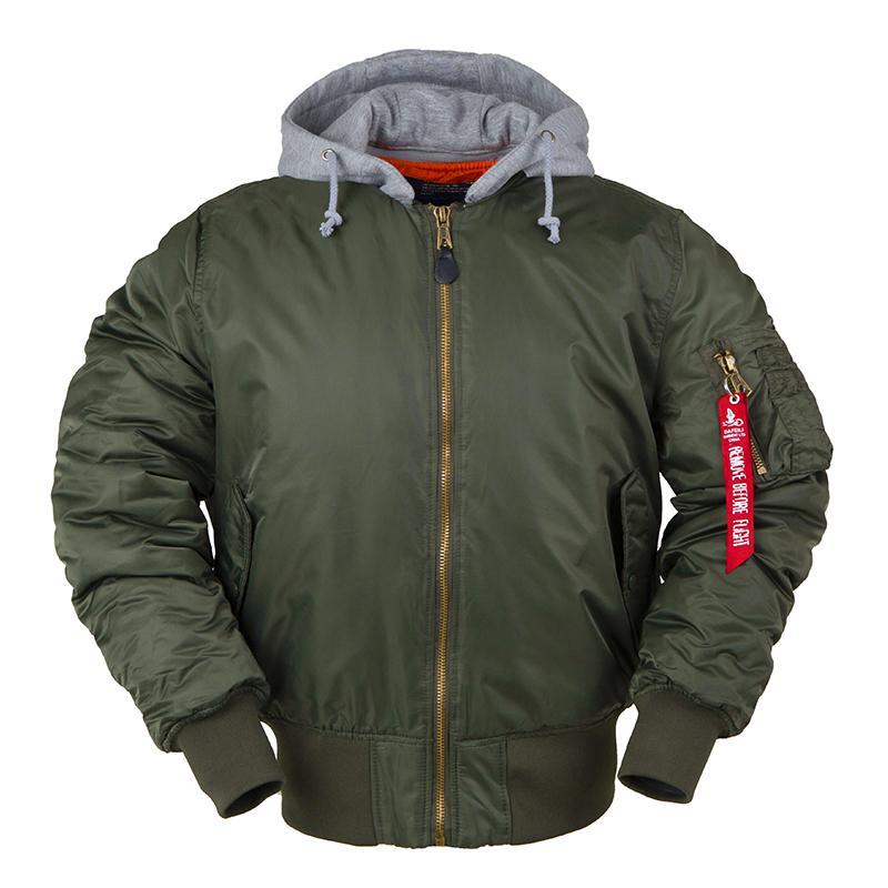 aw inverno bombardeiro de vôo jaqueta MA-1 com capuz streetwear roupa dos homens de beisebol roupas hip hop Letterman do time do colégio de grandes dimensões 201009