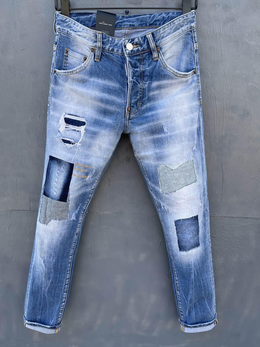 2021 Neue Marken Europäische und amerikanische Mode Männer Lässige Jeans, hochwertiges Waschen, reines Handschleifen, Qualitätsoptimierung LT035