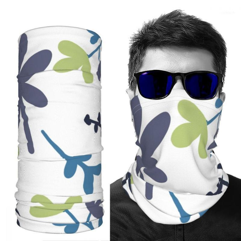Cycling Caps & Masks Greyscarf Neck Scarf Women S Outdoor Printed Unisex DIY Customizable Leaves Ice Silk1