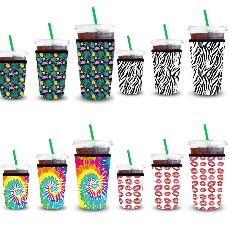 Café glacé Manches 3 Pack Réutilisable Glafe Café Sleeve Sleeve Sleeve pour boissons froides Boissons Boissons Terrasse de la tasse en néoprène IIF313 72 J2