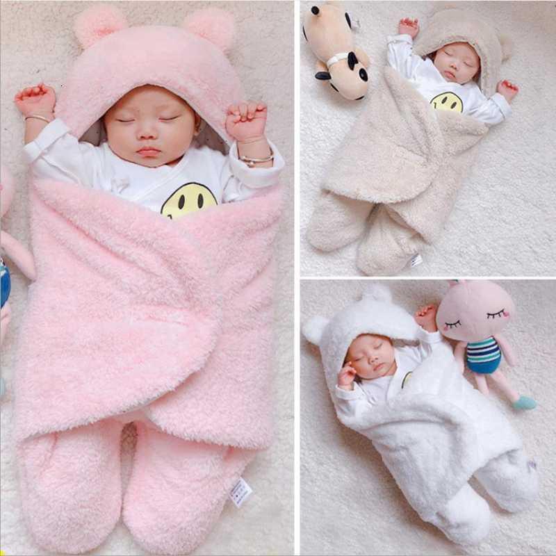 Yenidoğan Yorgan Katı Bebek Erkek Uyku Wrap Battaniye Kız Kalınlaşmak Pamuk Kundak Fotoğraf Sahne Kundakçılık Bebek Malzemeleri 3 Renkler BT4804