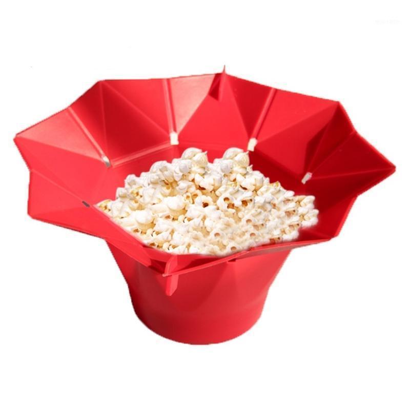 Silicone Microondas Popcorn Maker Popcorn Caseiro Delicioso Bowl Cozimento Ferramentas de Cozinha DIY Bucket1