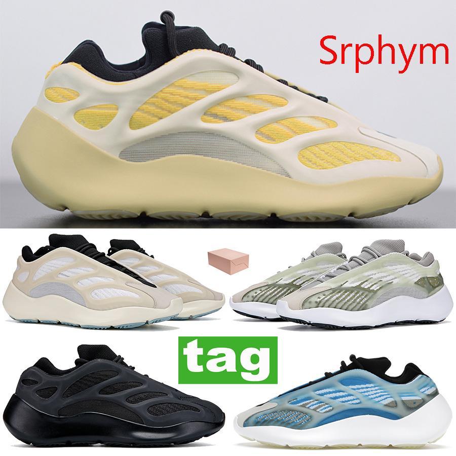 Лучшее качество Srphym 700 v3 Светящиеся в темноте мужчины женщин обувь Azareth Alvah Azael отражательной кроссовки скелет кроссовки