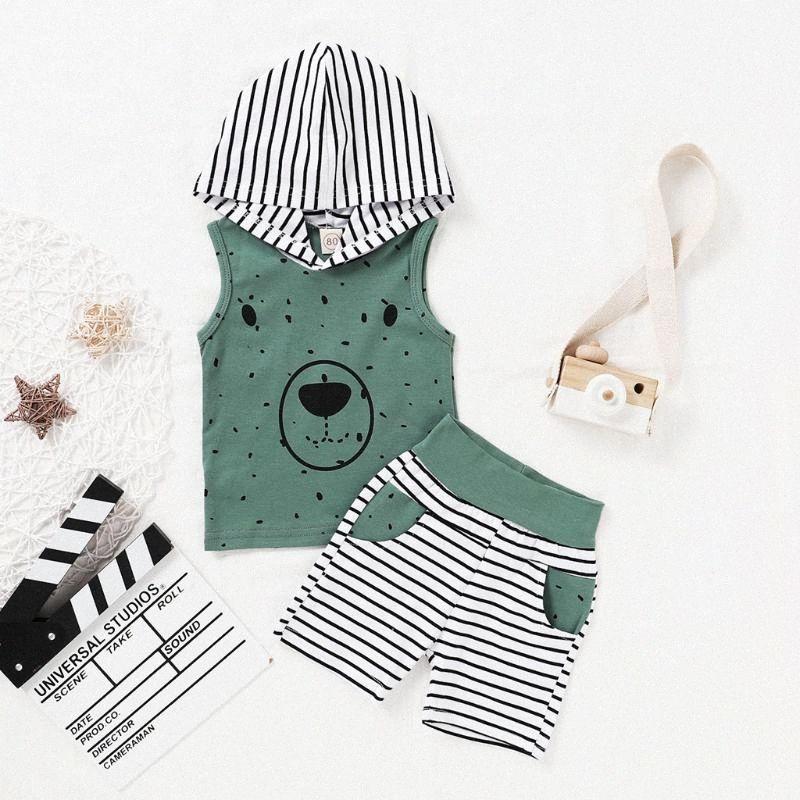 Ropa infantil Baby Boys Sets Summer Tacksuit de dibujos animados t shirt thread shorts trajes Set Beachwear Bebé recién nacido Conjuntos 2020 xm4p #