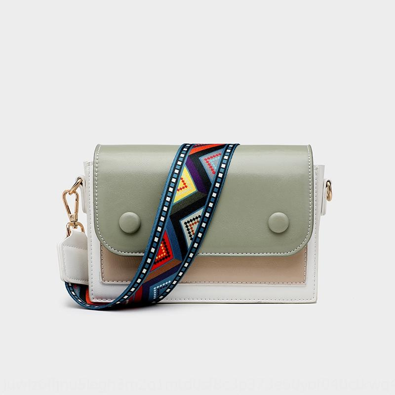2020 nouveau contraste de couleur coréenne Une épaule Messenger épaule sac doudou doudou mode polyvalent couleur solide petit sac femme T0POi