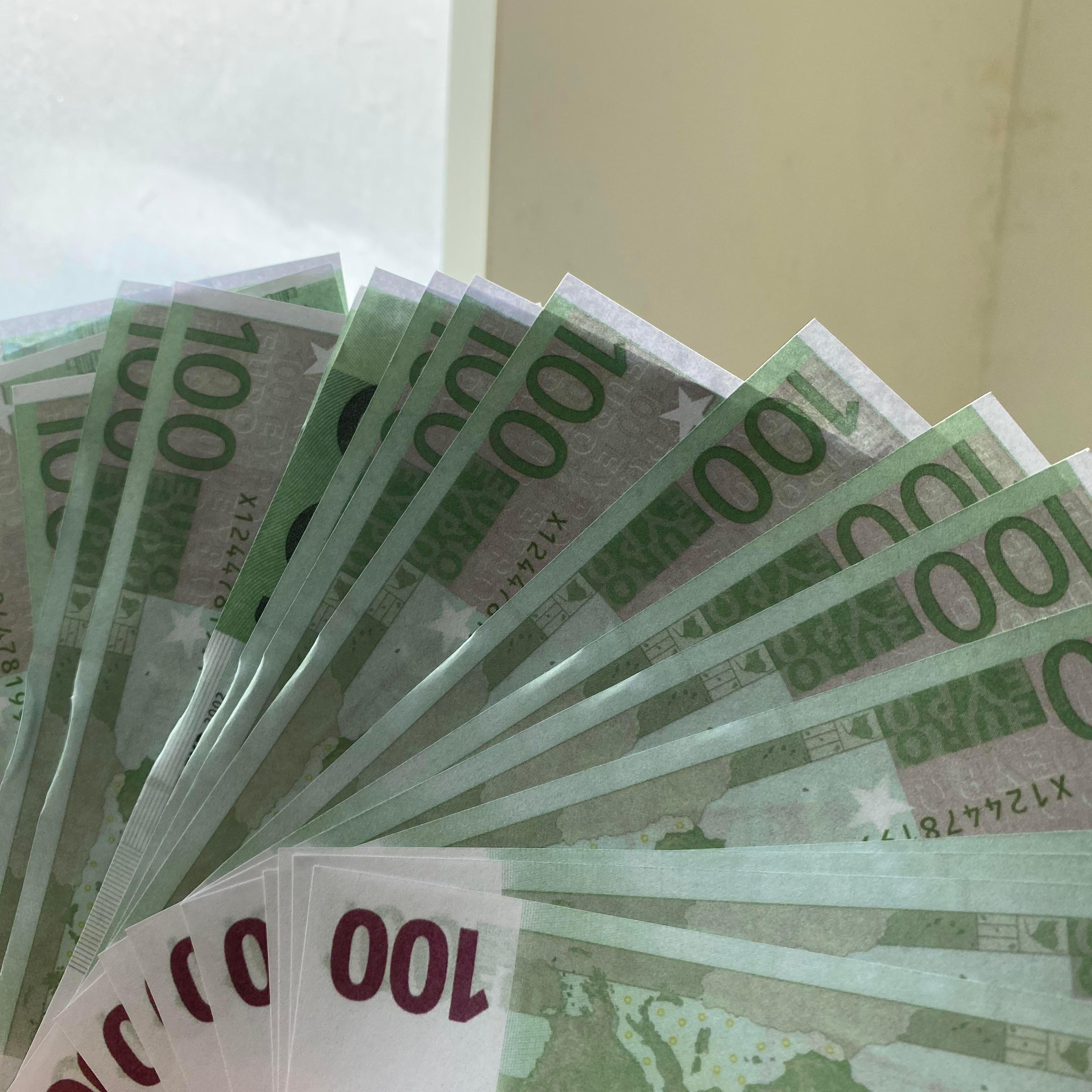 Euro vendiendo Euro Fake Prop Money Copy Gold Banknote Paper Precio 10/20/50 Billete / 100/30 / 500 Billete-119 DXITF