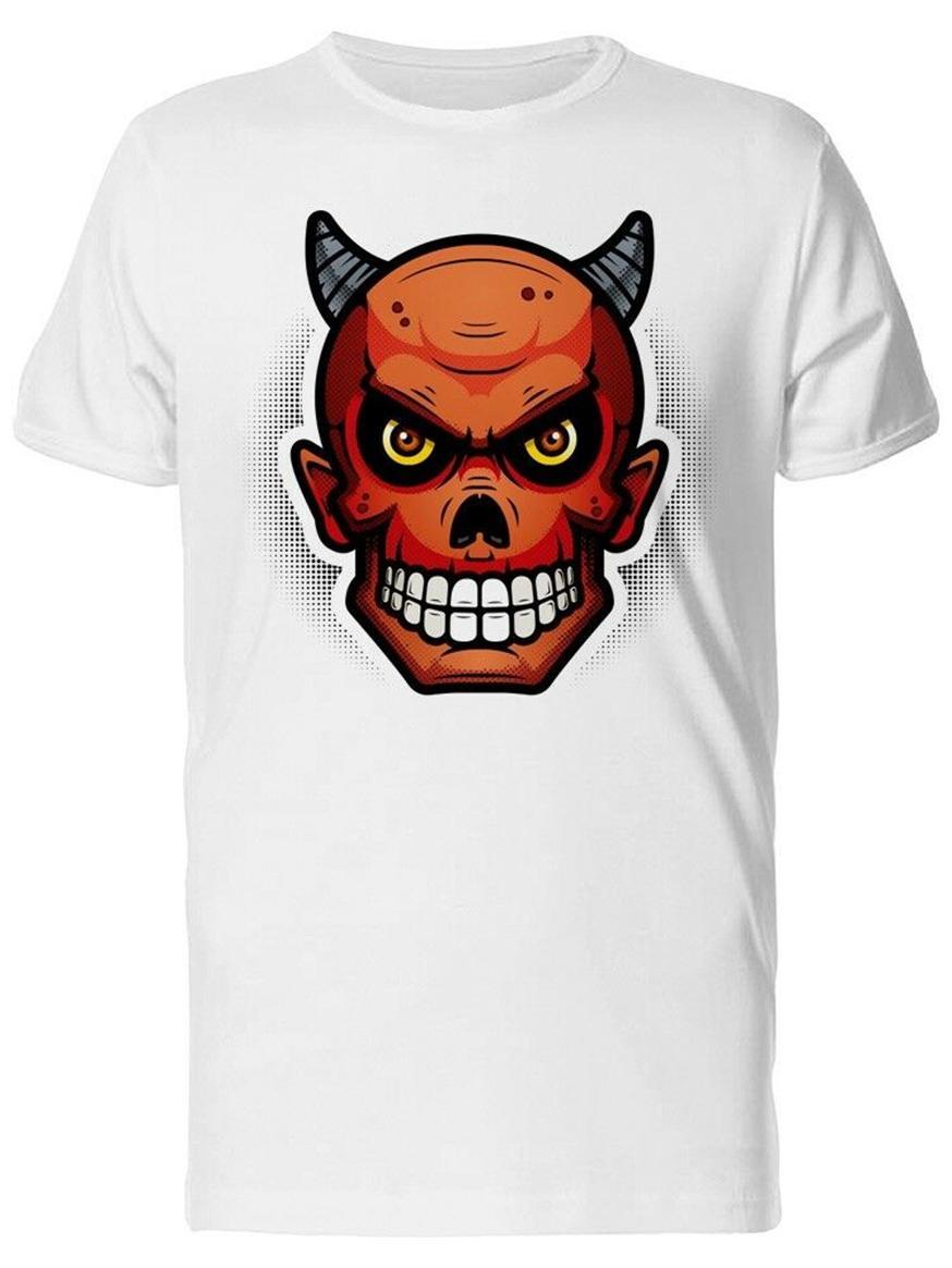 Crâne d'un Red Devil Vêtements pour hommes T-shirt par -Image Homme Plus Size T-shirt du sport Sweat à capuche à capuche