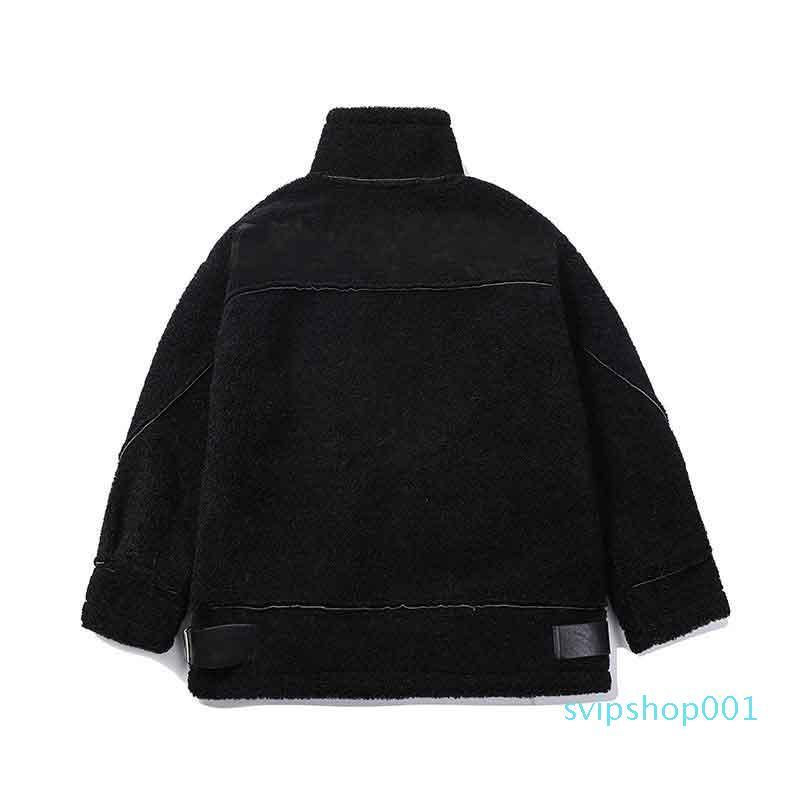 Mulheres estilistas 21Aw jaqueta moda espessura quente cor sólida cor de alta qualidade fêmeas outwear estilo locomotivo preto e branco 2 cores tamanho m-xl