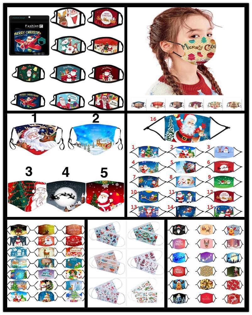 2021 Weihnachtsgesichtsmaske Tuch Anti-Staub-Maske Lustige Cotton USA Damen Herren Unisex Art und Weise Winter-waschbare Weihnachts Mask Warm