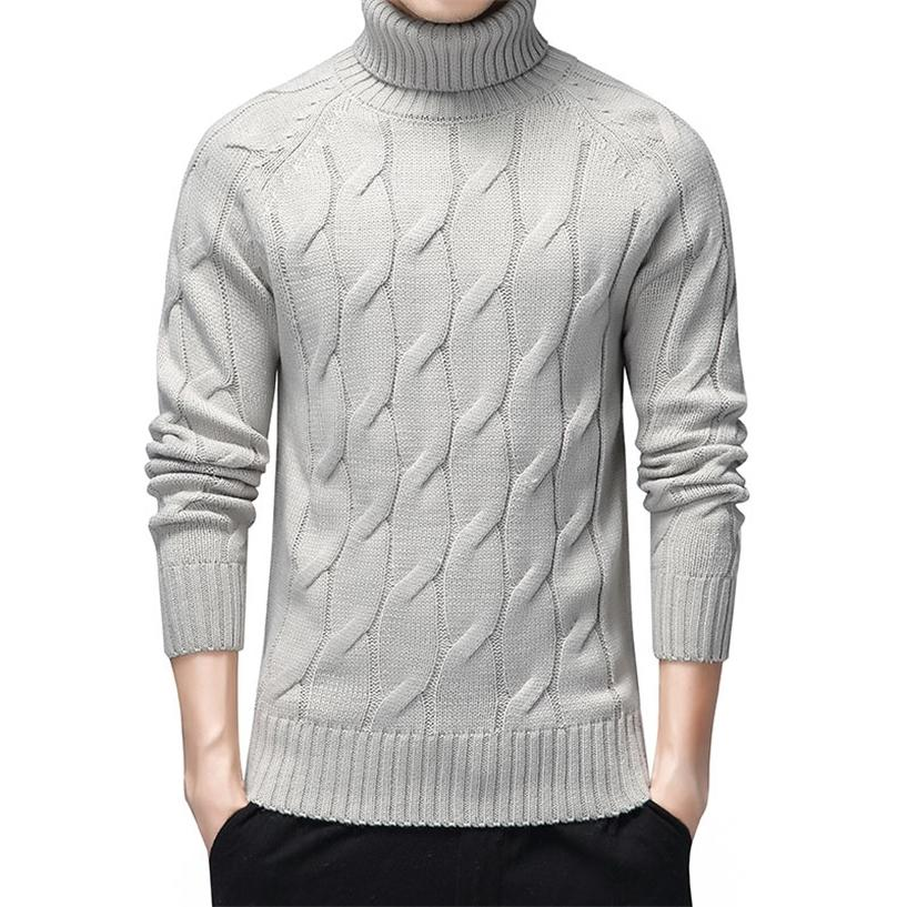 Black Turtleneck Sweaters Men Thick Warm Winter Sweater for Men New Casual Pull Homme Cotton Pullover Men Geometric Pattern Coat 201223