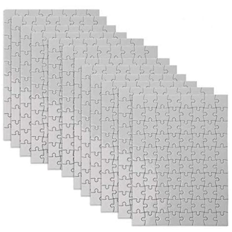 A5 Sublimation Leeres Puzzle-Puzzle-Papierprodukte mit 80 Stück DIY-Thermotransfer-Rätsel für DIY, Kinderfarbe-in Handwerksprojekte KDJK2101