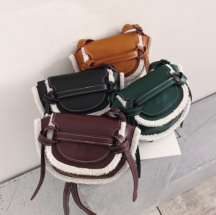 Wholesale Women Handbag Purse Lambs Wool Bag Lady Shoulder Bags Fashion Small Crossbody Bag High Quality