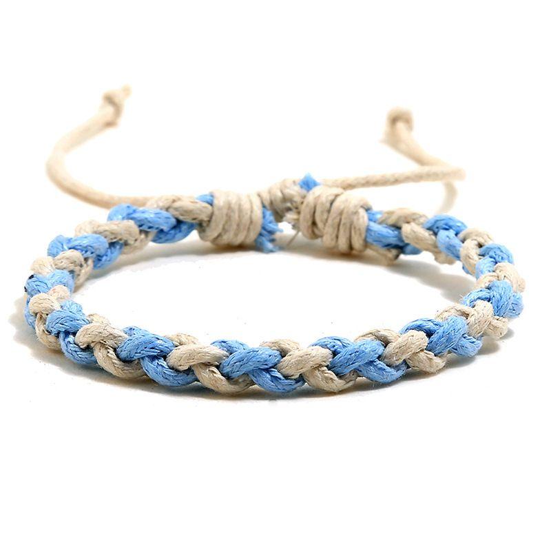 색조 묶음 팔찌 간단한 문자열 조정 가능한 팔찌 여성 망 팔찌 패션 쥬얼리 윌과 모래 선물