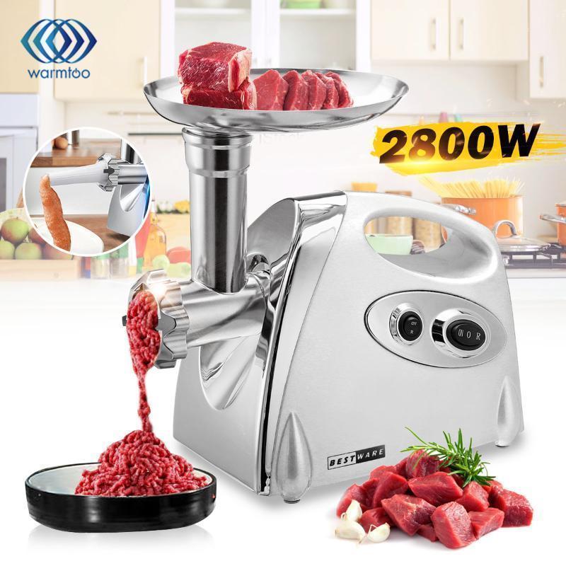 Fleischschleifer 2800w Electric Edelstahl leistungsstarke Mühle Wurst Stuffer Mincer Slicer für Küchengeräte1